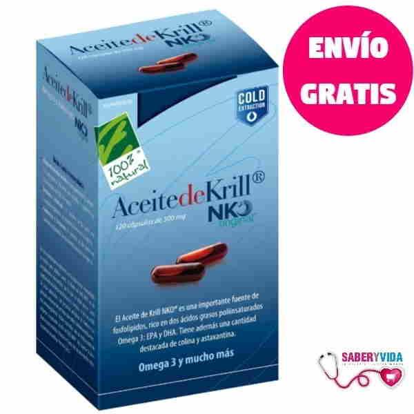 Aceite de Krill Nko - 100% Natural 120 cápsulas
