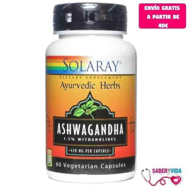 Ashwagandha Solaray 60 cápsulas
